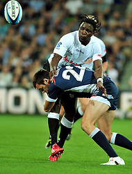 Lwazi Mvovo (Sharks).Melbourne Rebels v The Sharks.Rugby Union - 2011 Super Rugby.AAMI Park, Melbourne VIC Australia.Friday, 11 March 2011.© Sport the library / Jeff Crow