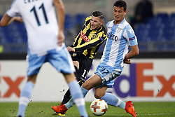(l-r) Bryan Linssen of Vitesse, Luis Felipe Ramos Marchi of SS Lazio during the UEFA Europa League group K match between SS Lazio and Vitesse Arnhem at Stadio Olimpico on November 23, 2017 in Rome, Italy