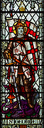 Stained glass window of Saint George, Saint Thomas church, Salisbury, Wiltshire, England, 1920, by James Powell and Sons