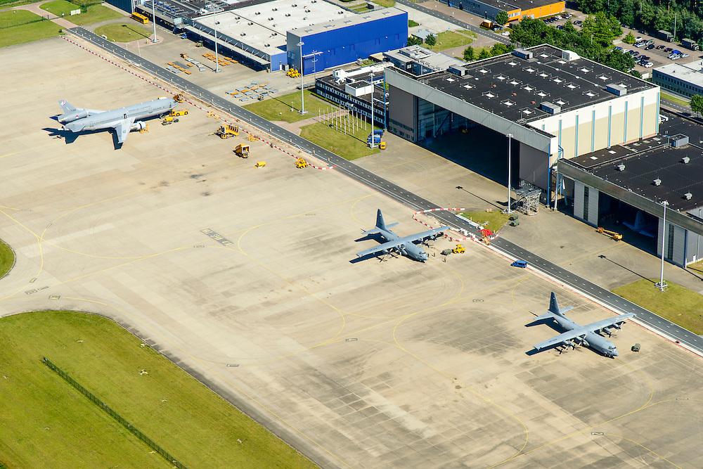 Nederland, Noord-Brabant, Eindhoven, 23-08-2016; militair vliegveld vliegbasis Eindhoven, gelegen naast vliegveld Eindhoven.<br /> Eindhoven airport, military section.<br /> <br /> luchtfoto (toeslag op standard tarieven);<br /> aerial photo (additional fee required);<br /> copyright foto/photo Siebe Swart
