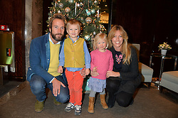 BEN & MARINA FOGLE and their children LUDO & IONA at a VIP evening hosted by Joely Richardson at the Tiffany & Co Christmas Shop, Tiffany & Co Old Bond Street, London on 24th November 2013.