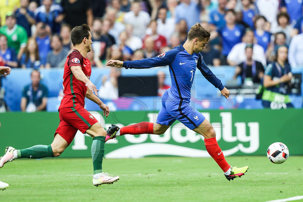 Antoine Griezmann from France during the match against France. Portugal won the Euro Cup beating in the final home team France at Saint Denis stadium in Paris, after winning on extra-time by 1-0.