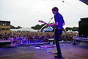 © licensed to London News Pictures. LONDON. UK.  03/07/11. Joel Pott, lead vocals. Athlete headline at Jamie Oliver's 'The Big Feastival' . Jamie Oliver's The Big Feastival, is a three day event featuring food from some of the country's top chefs along with live music. The Big Feastival takes place on Clapham Common on the 1st, 2nd and 3rd July. All profits from the event will be shared between The Jamie Oliver Foundation and The Prince's Trust.  Mandatory Credit Stephen Simpson/LNP