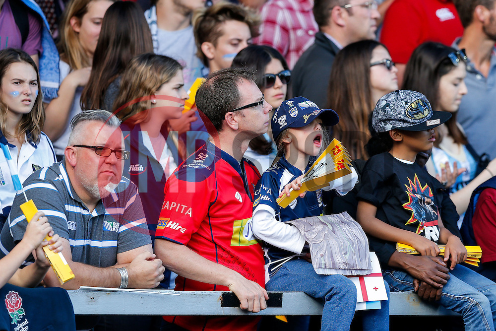 Bristol RUgby supporters take in the match - Mandatory byline: Rogan Thomson/JMP - 07966 386802 - 25/09/2015 - RUGBY UNION - Kingsholm Stadium - Gloucester, England - Argentina v Georgia - Rugby World Cup 2015 Pool C.