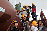 Korean tourists visiting the Unification Park with exhibited North Korean spy submarine / Jeongdongjin, South Korea, Republic of Korea, KOR, 07 October 2009.