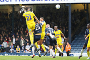 AFC Wimbledon defender Ryan Delaney (21) scoring goal during the EFL Sky Bet League 1 match between Southend United and AFC Wimbledon at Roots Hall, Southend, England on 12 October 2019.