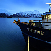 Fisherman and crabber Dennis Knagin prepares the Sirene to work the oil spill on Thursday, December 16, 2004 in the city of Unalaska.  The ship Selendang Ayu ran aground during a storm and spilled bunker oil into the pristine wildlife reserve.  Six crew members also died in the accident.   Joshua Trujillo / Seattle Post-Intelligencer