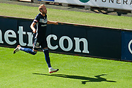 MELBOURNE, VIC - JANUARY 20: Melbourne Victory forward Ola Toivonen (11) celebrates the opening goal during the Hyundai A-League Round 14 soccer match between Melbourne Victory and Wellington Phoenix at AAMI Park in VIC, Australia on 20th January 2019. Image by (Speed Media/Icon Sportswire)