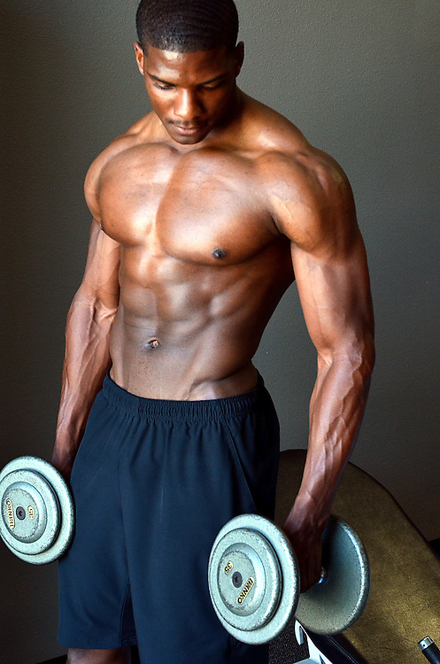 Body Builder with Dumbbells