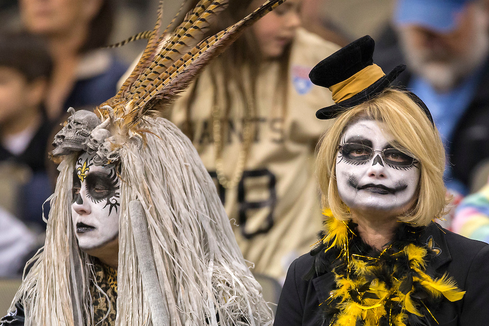 NEW ORLEANS, LA - DECEMBER 30:  Fans of the New Orleans Saints during a game against the Carolina Panthers at Mercedes-Benz Superdome on December 30, 2012 in New Orleans, Louisiana.  The Panthers defeated the Saints 44-38.  (Photo by Wesley Hitt/Getty Images) *** Local Caption ***