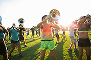 Shadow Drum and Bugle Corps rehearses in Oregon, Wisconsin on August 5, 2016. <br /> <br /> Beth Skogen Photography - www.bethskogen.com