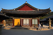 Tongdosa buddhist temple complex is one of the Three Jewel Temples of Korea, and represents the Buddha.