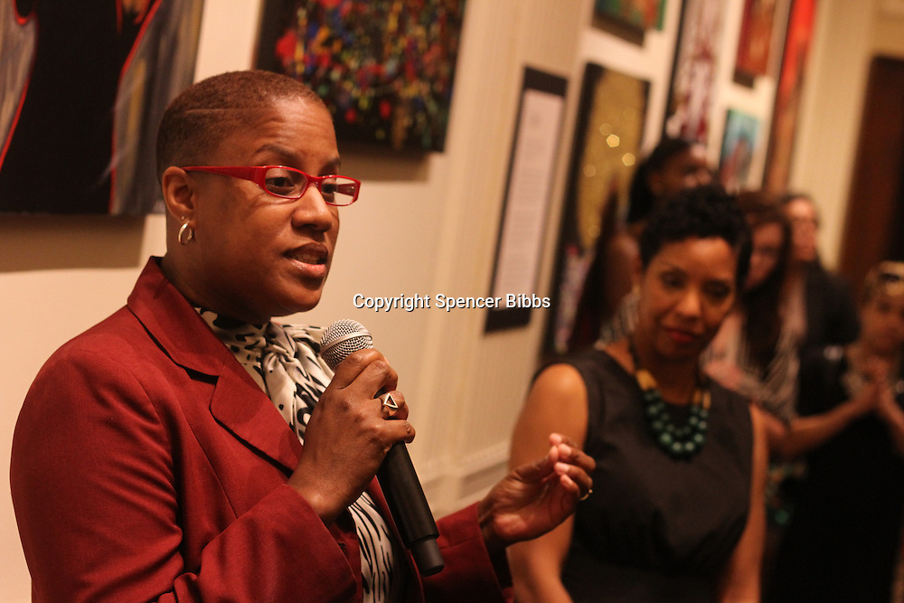 An art exhibit opening reception was held Thursday evening at the Union League Club located at 65 W. Jackson Blvd. for high school students from Little Black Pearl located at 1060 E. 47th Street.<br /> <br /> 9670, 9671 &ndash; Principal of the Little Black Pearl, Nicole Muhammad and Co-Chair for the third floor gallery at the Union League Club, Kyrin Hobson.<br /> <br /> Please 'Like' &quot;Spencer Bibbs Photography&quot; on Facebook.<br /> <br /> All rights to this photo are owned by Spencer Bibbs of Spencer Bibbs Photography and may only be used in any way shape or form, whole or in part with written permission by the owner of the photo, Spencer Bibbs.<br /> <br /> For all of your photography needs, please contact Spencer Bibbs at 773-895-4744. I can also be reached in the following ways:<br /> <br /> Website &ndash; www.spbdigitalconcepts.photoshelter.com<br /> <br /> Text - Text &ldquo;Spencer Bibbs&rdquo; to 72727<br /> <br /> Email &ndash; spencerbibbsphotography@yahoo.com