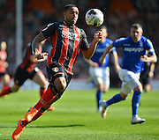 AFC Bournemouth's Callum Wilson during the Sky Bet Championship match between Bournemouth and Birmingham City at the Goldsands Stadium, Bournemouth, England on 6 April 2015. Photo by Mark Davies.