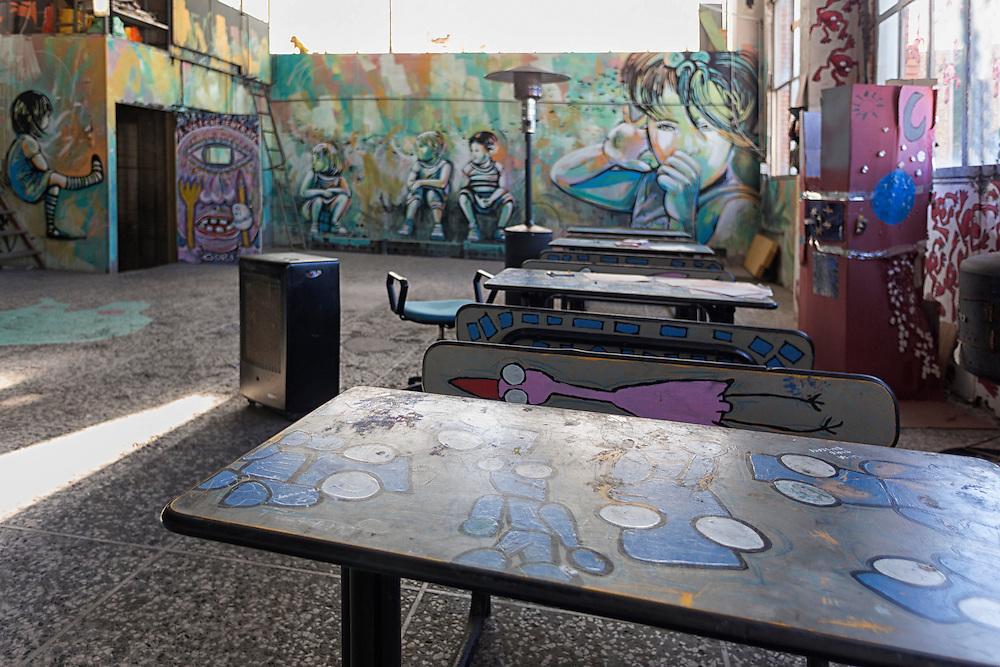 La stanza dei giochi, dipinta da Alice Pasquini<br /> <br /> The playroom, painted by Alice Pasquini