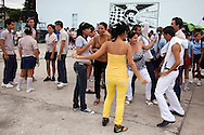 Dancing at a high school in Holguin, Cuba.