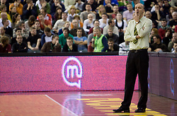 Head coach of Olimpija Jure Zdovc at Euroleague basketball match of Group C between KK Union Olimpija, Ljubljana and Maroussi B.C., Athens, on October 29, 2009, in Arena Tivoli, Ljubljana, Slovenia. Olimpija lost 75:81.  (Photo by Vid Ponikvar / Sportida)