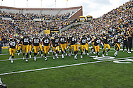 October 31, 2009: The Iowa Hawkeyes take the field before their 42-24 win over the Indiana Hoosiers at Kinnick Stadium in Iowa City, Iowa on October 31, 2009.