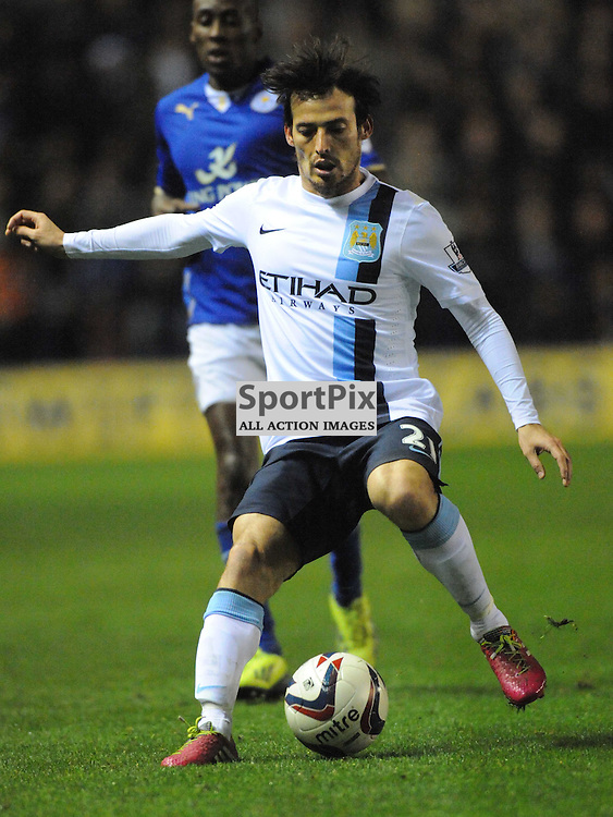 David Silva, Manchester City, Capital One Cup, against Leicester City, 17/12/2013