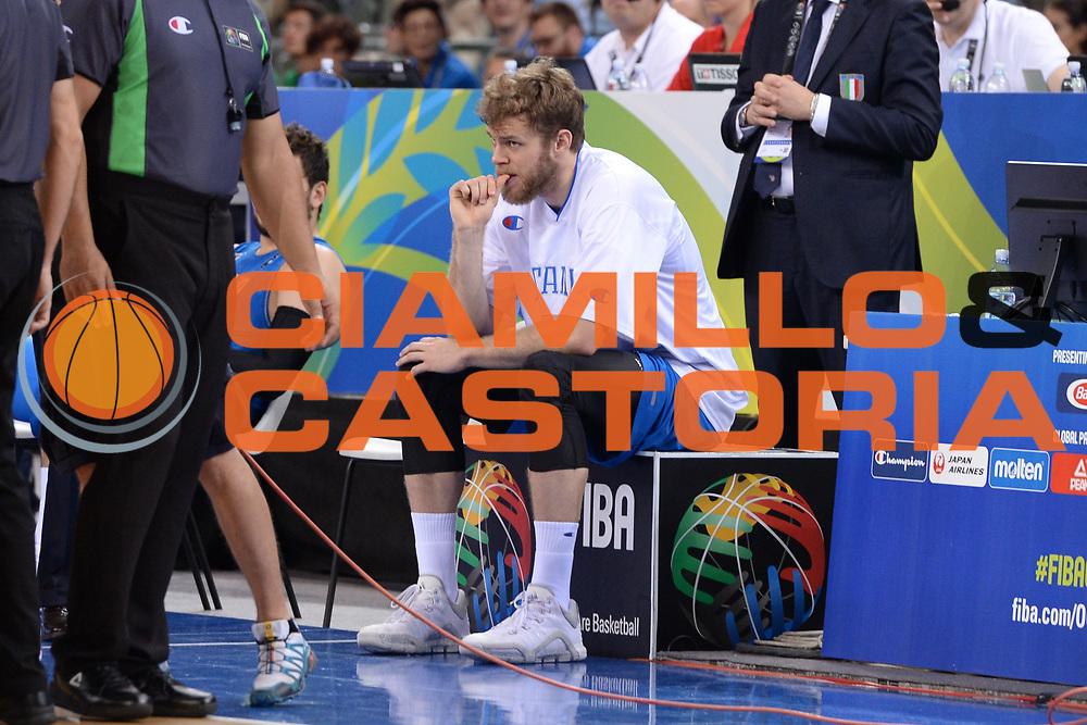DESCRIZIONE: Torino FIBA Olympic Qualifying Tournament Finale Italia - Croazia<br /> GIOCATORE: Niccolo Melli<br /> CATEGORIA: Nazionale Italiana Italia Maschile Senior<br /> GARA: FIBA Olympic Qualifying Tournament Finale Italia - Croazia<br /> DATA: 09/07/2016<br /> AUTORE: Agenzia Ciamillo-Castoria