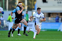 George Ford of Bath Rugby goes on the attack - Photo mandatory by-line: Patrick Khachfe/JMP - Mobile: 07966 386802 18/10/2014 - SPORT - RUGBY UNION - Glasgow - Scotstoun Stadium - Glasgow Warriors v Bath Rugby - European Rugby Champions Cup