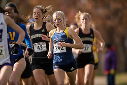 Meaghan Marton of the Windsor Lancers runs in the women's  6K Dash at the 2013 CIS Cross Country Championships in London Ontario, Saturday,  November 9, 2013.<br /> Mundo Sport Images/ Geoff Robins