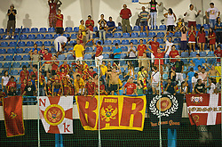 PODGORICA, MONTENEGRO - Wednesday, August 12, 2009: Montenegro supporters during an international friendly match against Wales at the Gradski Stadion. (Photo by David Rawcliffe/Propaganda)