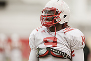 March 06, 2013: Defensive End Jason Ankrah #9 at spring practice at Hawks Championship Center.
