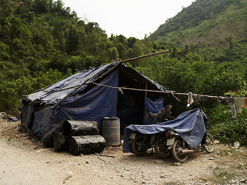 tarpaulin c& in a quarry. Ha Giang province Vietnam Asia. & Shanty-camp-Ha-Giang-province-Vietnam-Boris-Zuliani-NOI-Pictures ...