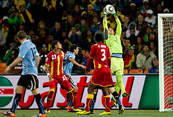 Goalkeeper of Uruguay Fernando Muslera during to the 2010 FIFA World Cup South Africa Quarter Finals football match between Uruguay and Ghana on July 02, 2010 at Soccer City Stadium in Sowetto, suburb of Johannesburg. (Photo by Vid Ponikvar / Sportida)
