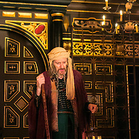 The Inn at Lydda by WOLFSON ;<br /> Directed by Andy Jordan ;<br /> Richard Bremmer (as Balthasar) ;<br /> Sam Wanamaker Playhouse, Globe Theatre ;<br /> 6 September 2016 ;<br /> Credit: Pete Jones/ArenaPal ;<br /> www.arenapal.com