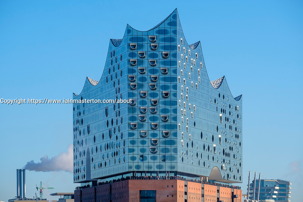 Elbphilharmonie Hamburg Germany View Of New