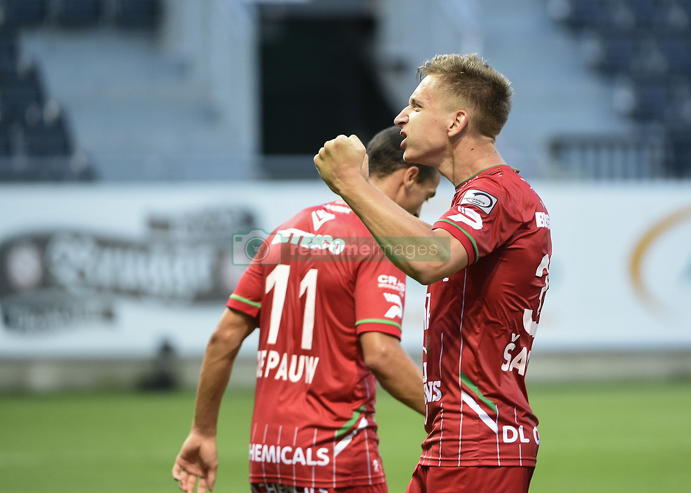July 29, 2017 - Eupen, BELGIUM - Essevee's Ivan Saponjic celebrates after scoring during the Jupiler Pro League match between KAS Eupen and SV Zulte Waregem, in Eupen, Saturday 29 July 2017, on the first day of the Jupiler Pro League, the Belgian soccer championship season 2017-2018. BELGA PHOTO JOHN THYS (Credit Image: © John Thys/Belga via ZUMA Press)