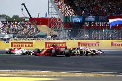 July 8, 2018 - Silverstone, Great Britain - Motorsports: FIA Formula One World Championship 2018, Grand Prix of Great Britain, ..Start, #5 Sebastian Vettel (GER, Scuderia Ferrari) (Credit Image: © Hoch Zwei via ZUMA Wire)