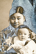 mother with baby toddler Japan 1933