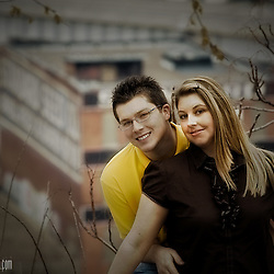 A portrait session for the engagement of a couple friends of mine, taken at Case Park with a backdrop of the West Bottoms.
