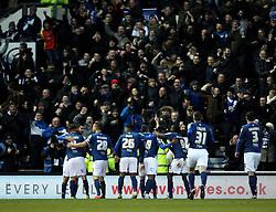 Birmingham City celebrates Paul Robinson's goal - Mandatory byline: Robbie Stephenson/JMP - 16/01/2016 - FOOTBALL - iPro Stadium - Derby, England - Derby County v Birmingham City - Sky Bet Championship