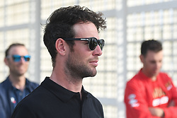 February 23, 2019 - Abu Dhabi, United Arab Emirates - Mark Cavendish of Great Britain and Team Dimension Data, seen ahead of Top Riders Photo session at the entrance to the Louvre Abu Dhabi museum..On Saturday, February 23, 2019, Abu Dhabi, United Arab Emirates. (Credit Image: © Artur Widak/NurPhoto via ZUMA Press)