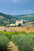 The ancient Abbey of Saint Antimo, Abbazia Sant'Antimo, near Montalcino, Val D'Orcia, Tuscany, Italy RESERVED USE - NOT FOR DOWNLOAD - FOR USE CONTACT TIM GRAHAM