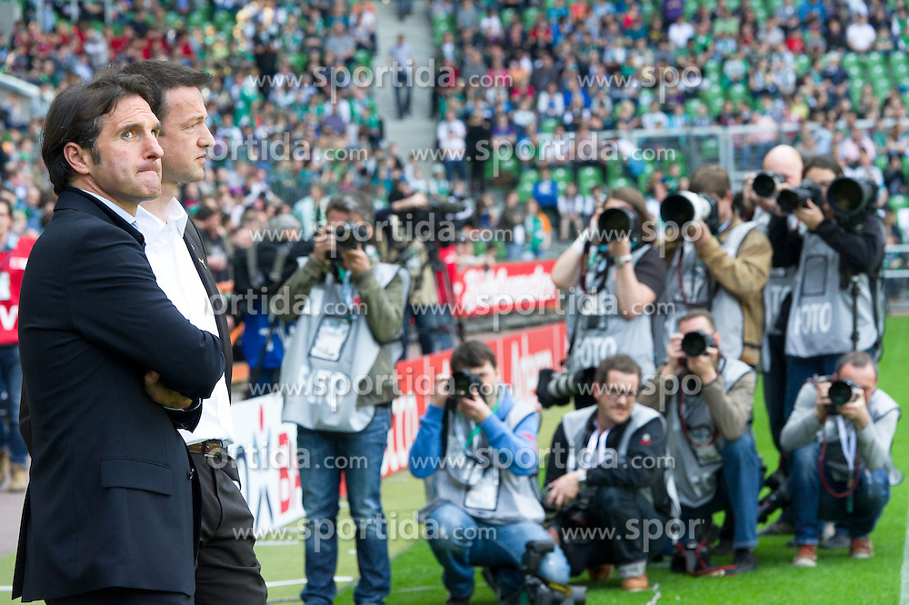 02.04.2011, Weserstadion, Bremen, GER, 1.FBL, Werder Bremen vs VFB Stuttgart, im Bild  Bruno Labbadia (Trainer Stuttgart)  im Focus der Medien  EXPA Pictures © 2011, PhotoCredit: EXPA/ nph/  Kokenge       ****** out of GER / SWE / CRO  / BEL ******