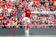 Leeds United defender Ben White (5), on loan from Brighton & Hove Albion,  during the EFL Sky Bet Championship match between Bristol City and Leeds United at Ashton Gate, Bristol, England on 4 August 2019.