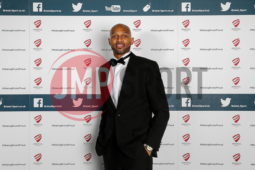 Cardell MacFarland of Bristol Flyers attends Bristol Sport's Annual Gala Dinner at Ashton Gate Stadium - Mandatory byline: Rogan Thomson/JMP - 08/12/2015 - SPORT - Ashton Gate Stadium - Bristol, England.