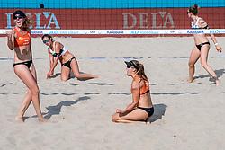 18-07-2018 NED: CEV DELA Beach Volleyball European Championship day 4<br /> Jolien Sinnema NED #1, Laura Bloem NED #2