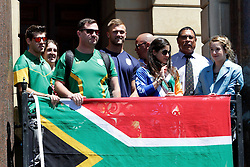 Monday 17th October 2016.<br /> Grand Parade & Greenpoint Athletics Stadium, Cape Town,<br /> Western Cape, South Africa.<br /> <br /> Cape Town Honours South African Olympic And Paralympic Heroes<br /> <br /> South African Olympic and Paralympic heroes gather together at Grand Parade.<br /> <br /> Cape Town honours the South African Olympic and Paralympic heroes during a special celebratory event held in Cape Town, Western Cape, South Africa on Monday 17 October 2016.<br /> <br /> Picture By: Mark Wessels / Real Time Images.