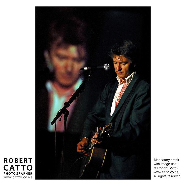 Neil Finn performs at a fundraiser for the Fred Hollows Foundation, Duxton Hotel Ballroom, Wellington New Zealand.