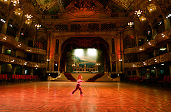 UK ENGLAND LANCASHIRE BLACKPOOL 1DEC04 - Lisa Naylor (2 1/2) practices some dance moves in Blackpool's once grand Tower Ballroom. ....jre/Photo by Jiri Rezac....© Jiri Rezac 2004....Contact: +44 (0) 7050 110 417..Mobile:  +44 (0) 7801 337 683..Office:  +44 (0) 20 8968 9635....Email:   jiri@jirirezac.com..Web:    www.jirirezac.com....© All images Jiri Rezac 2004 - All rights reserved.