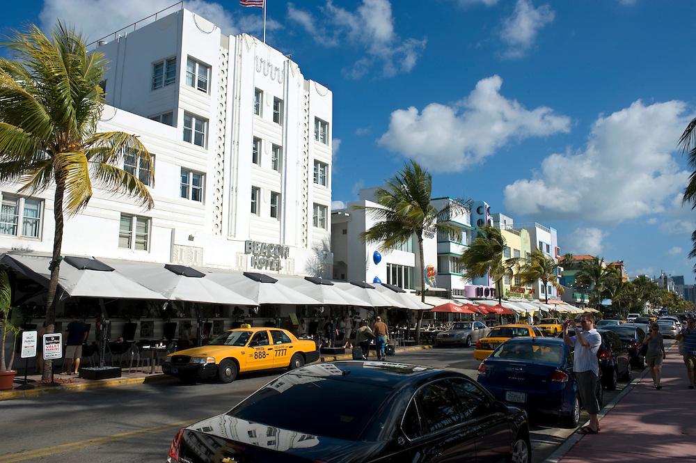 Beacon Hotel am Ocean Drive, Miami Beach..Florida 2009..Foto © Stefan Falke.