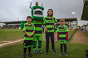 FGR mascots during the EFL Sky Bet League 2 match between Forest Green Rovers and Notts County at the New Lawn, Forest Green, United Kingdom on 9 February 2019.