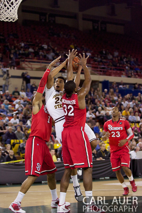 November 27th, 2010:  Anchorage, Alaska - Arizona State's Trent Lockett (24) plows through the Red Storm defense for a shot in the Sun Devil's 58-67 loss to St. Johns in the championship game of the Great Alaska Shootout.