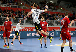 19.01.2018, Varazdin Arena, Varazdin, CRO, EHF EM, Herren, Deutschland vs Tschechien, Hauptrunde, Gruppe 2, im Bild Uwe Gensheimer. // during the main round, group 2 match of the EHF men's Handball European Championship between Germany and Czech Republic at the Varazdin Arena in Varazdin, Croatia on 2018/01/19. EXPA Pictures © 2018, PhotoCredit: EXPA/ Pixsell/ Igor Kralj<br /> <br /> *****ATTENTION - for AUT, SLO, SUI, SWE, ITA, FRA only*****
